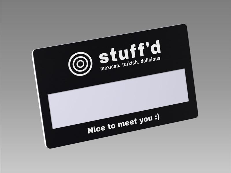 Slim M|magnetic name badge, name badge, 磁石 名牌, 磁石 徽章